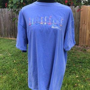 Okaloosa island t shirt light blue size L